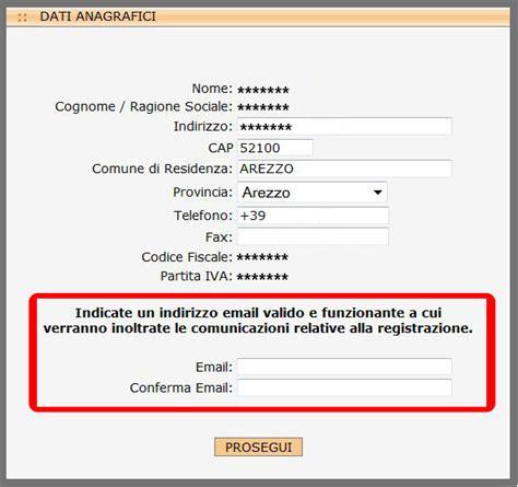 dati email modifica indirizzo email di riferimento guide hosting