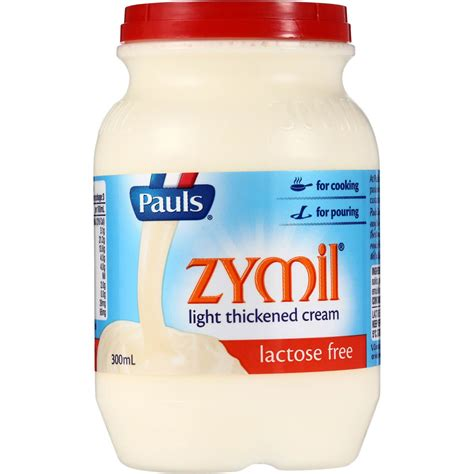 lactose free light cream pauls zymil light thickened cream lactose free 300ml