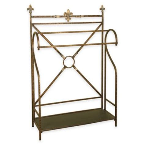 Quilt Rack Bed Bath And Beyond by Buy Metal Quilt Rack With Bottom Shelf In Rubbed