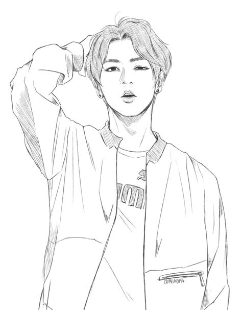 Bts V Coloring Pages by Pin By Alaina Frank On Coloring Bts Drawings Anime