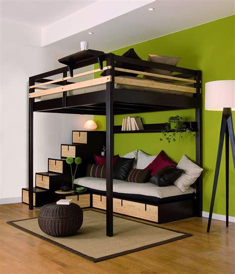 Lit Mezzanine Avec Escalier De Rangement by Lit Mezzanine Adulte Avec Banquette Et Escalier Rangement