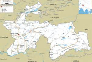 road map of central united states detailed clear large road map of tajikistan ezilon maps