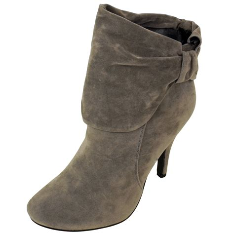 womens lefties at zara grey faux suede ankle boots