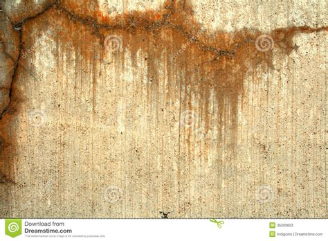 Stains On by Concrete With Orange Stains Stock Image Image 35209603