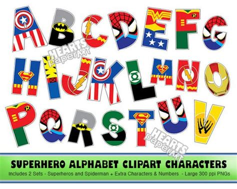 printable baby fonts superhero alphabet png printable super hero font