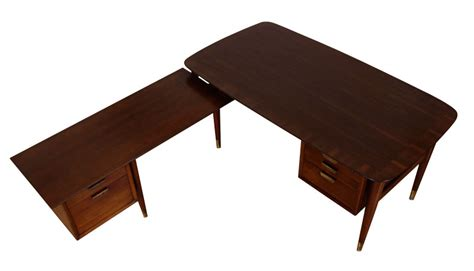 mid century modern l shaped desk mid century modern l shaped executive desk modernism