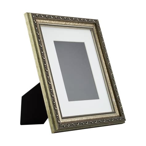 Picture Frames 8x10 Matted by Ancien Ornate Table Top 8x10 Antique Silver Standing