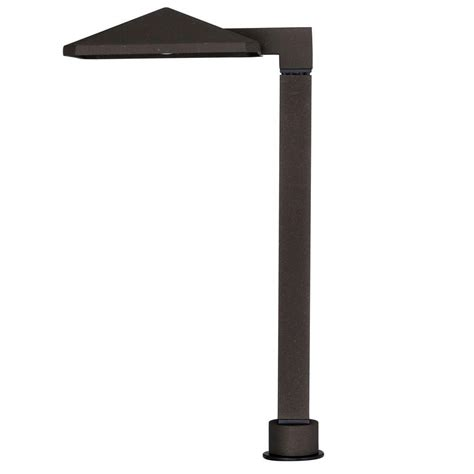 Home Depot Landscape Lighting Hton Bay Low Voltage Integrated Led Bronze Outdoor Path Light Iww1501l 2 The Home Depot