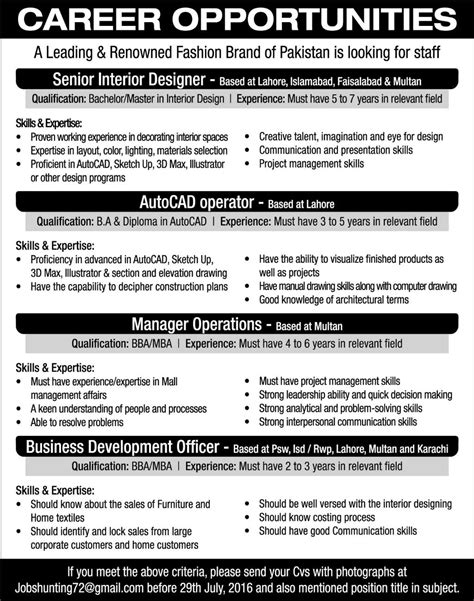 design management job titles career opportunities for an interior designer
