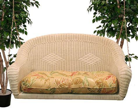 wicker swing cushions wicker sands porch swing w cushion