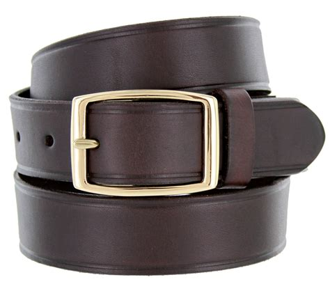 0021409 leather work belt 1 1 4 quot wide brown