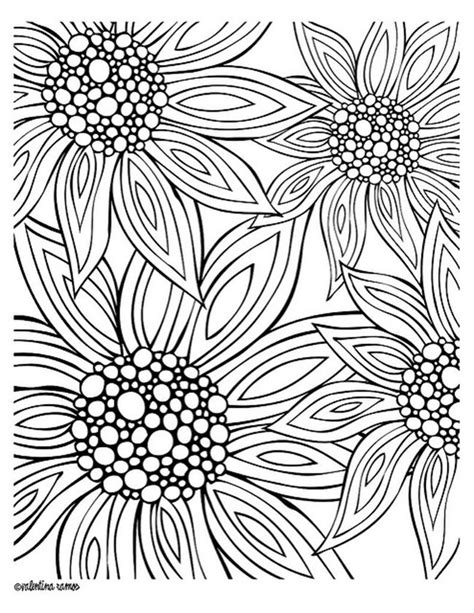 coloring pages summer flowers free printable coloring pages for summer flowers