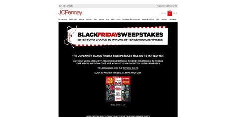 Black Friday Sweepstakes - jcp com sweepstakes jcpenney 100 000 black friday sweepstakes