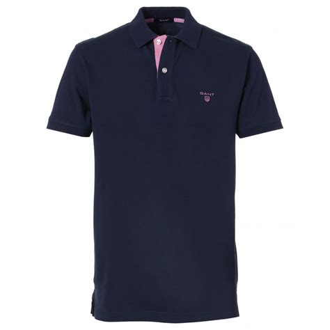 Polo Shirt Gant Contrast Collar Polo Shirt Gant From Gibbs Menswear Uk