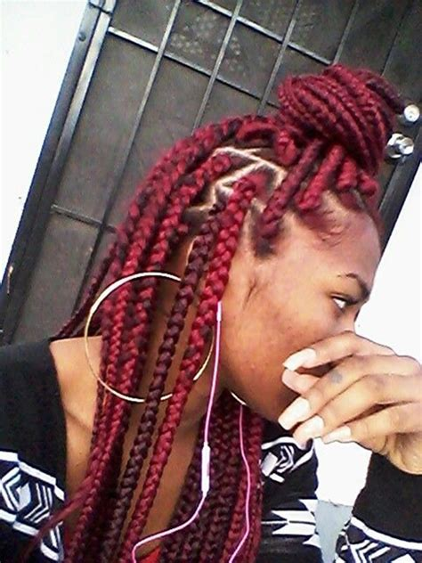 gold on top red on bottom box braids 79 sophisticated box braid hairstyles with tutorial