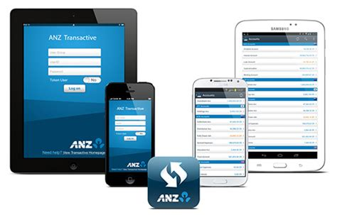 anz mobile banking anz transactive anz