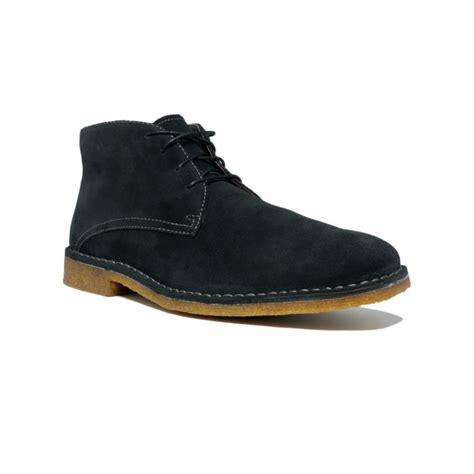 johnston murphy runnell chukka boots in black for