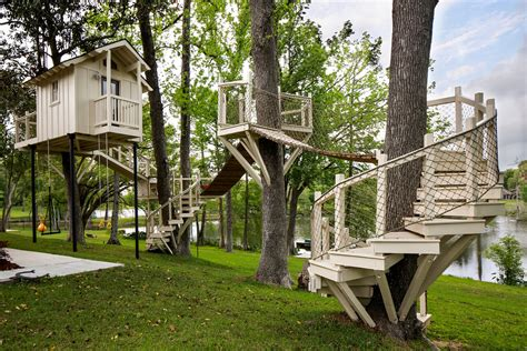 cool wooden playset in transitional with adding on to