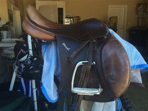 hunt seat saddle sold santa marcel two tone hunt seat