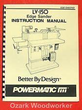 Powermatic Model 30 And 33 Sander Op Parts Manual Ebay
