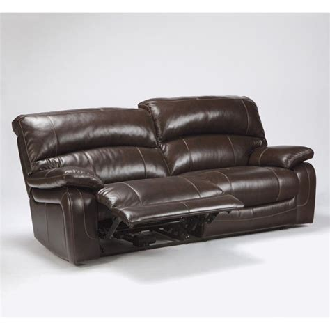 ashley furniture brown leather couch ashley furniture damacio leather reclining sofa in dark