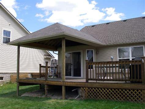 buildaroofoveradeck decks deck roof pinterest