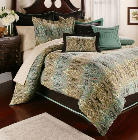 blue brown comforter blue and brown bedding king
