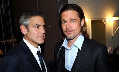 Brad Pitt George Clooney Do Entertainment Weekly by Brad Pitt Leonardo Dicaprio Und George Clooney K 228 Mpfen Um