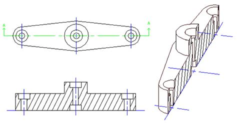 Sectional Drawing amusements with freecad drawing module section views