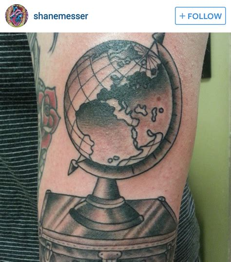 globe tattoo ideas terrestrial world globe tattoos