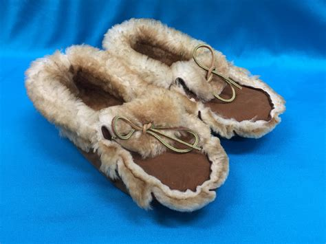 alaskan slippers sheepskin moccasin anchorage fur factory llc furs and