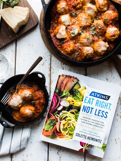 atkins eat right not less your guidebook for living a low carb and low sugar lifestyle books chicken parmesan meatballs kitchen confidante 174