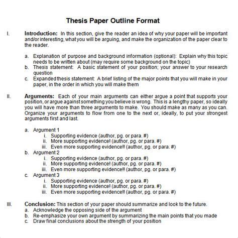 dissertation outline exle dissertation template 11 free word excel pdf
