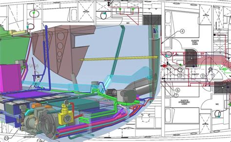 ship engine room design systems routing and engine room design byd group yacht
