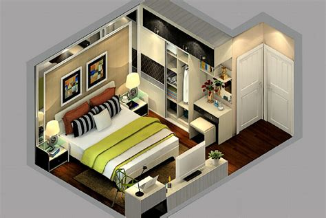bedroom overlooking 3d design with bay window 3d house modern style sectional view of master bedroom design