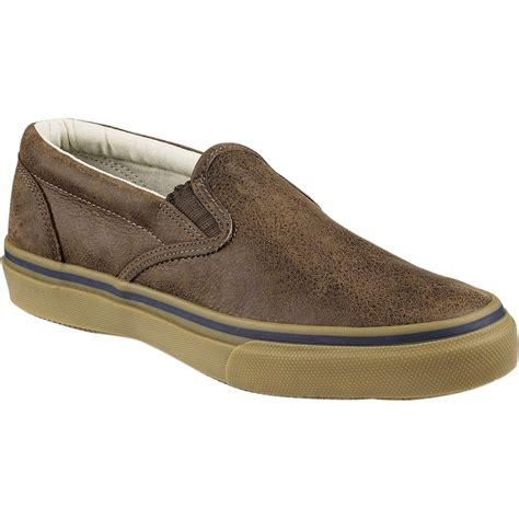 sperry top sider striper slip on leather shoe s