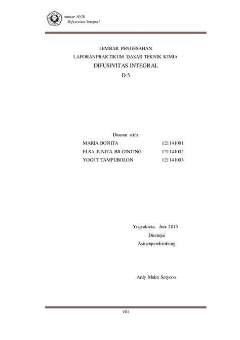 format makalah matematika makalah difusivitas integral