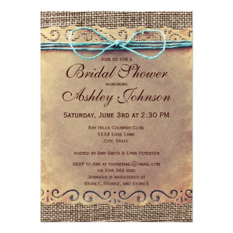 Vintage Bridal Shower Invitations by Rustic Country Vintage Bridal Shower Invitations