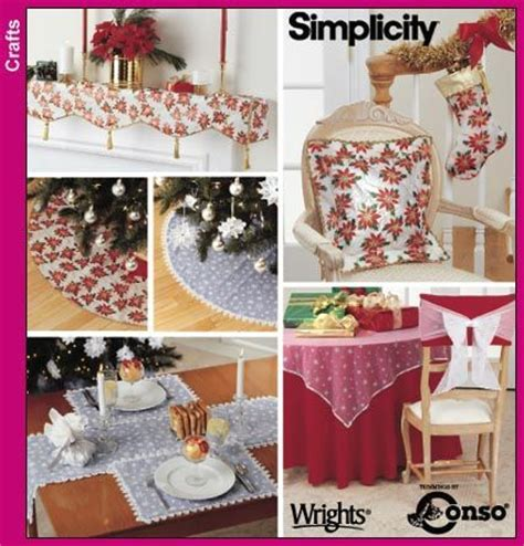 sewing patterns for home decor christmas customs xmas ideas home simplicity pattern