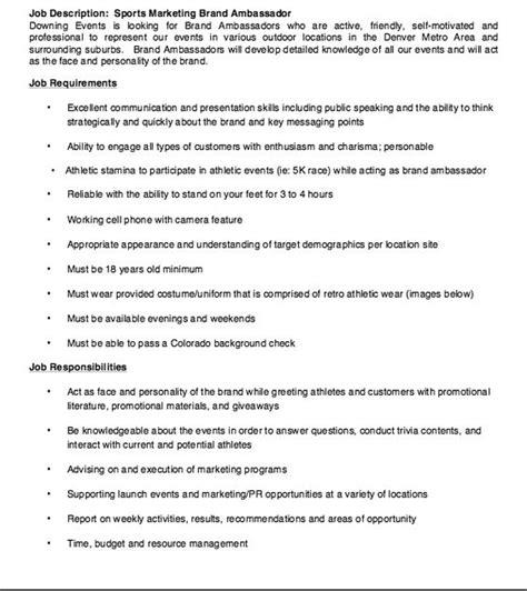 brand ambassador cover letter amazing brand ambassador resume cover letter images