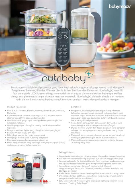 Babymoov Nutribaby Loft White jual murah babymoov nutribaby plus steamer blender loft