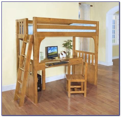 size loft bed with desk underneath plans loft bed with desk plans beds home design ideas