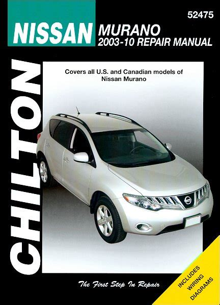 nissan murano repair manual 2003 2010 chilton 52475