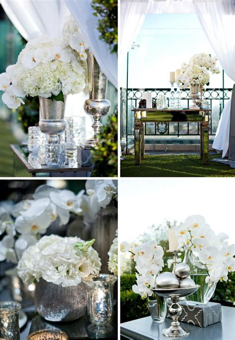 mirrored wedding reception decor elegant venue outdoor