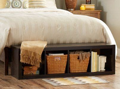 foot of the bed storage bench lay our 4 cube organizer at the foot of your bed for an