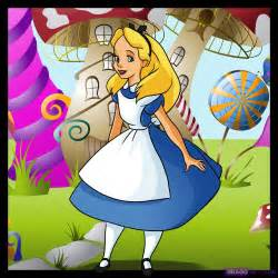 How to draw alice in wonderland step by step disney characters