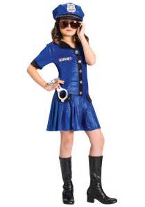 halloween costumes girls girls blue police officer costume