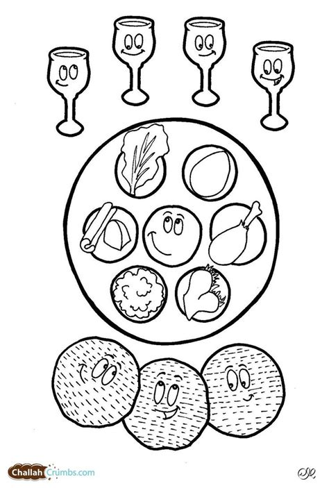 this coloring page has it all four cups of wine three