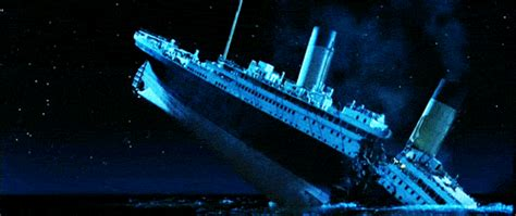 titanic boat sinking gif my favorite movie of all time
