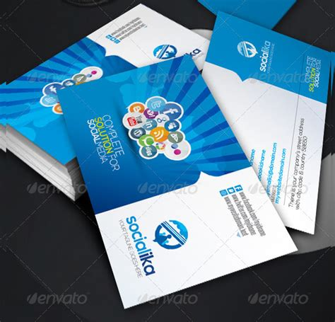 social media business card template free 39 social media business card templates free premium